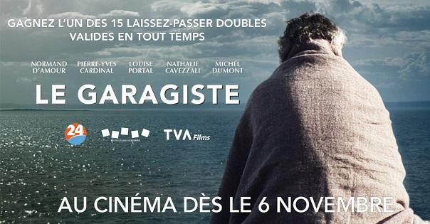 Concours Gagnez un des 15 laissez-passer doubles valables en tout temps pour le film Le Garagiste!