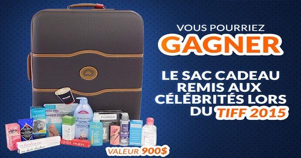 Concours Gagnez le sac cadeau remis aux célébrités au Festival international du film de Toronto en 2015!