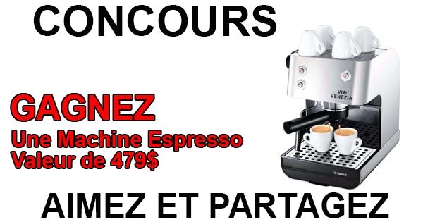 Concours Gagnez une machine espresso VIA VENEZIA!