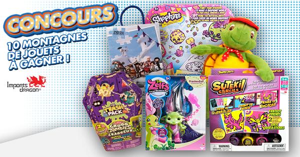 Concours Gagnez l'un des 10 ensembles de jouets d'une valeur de 100$!