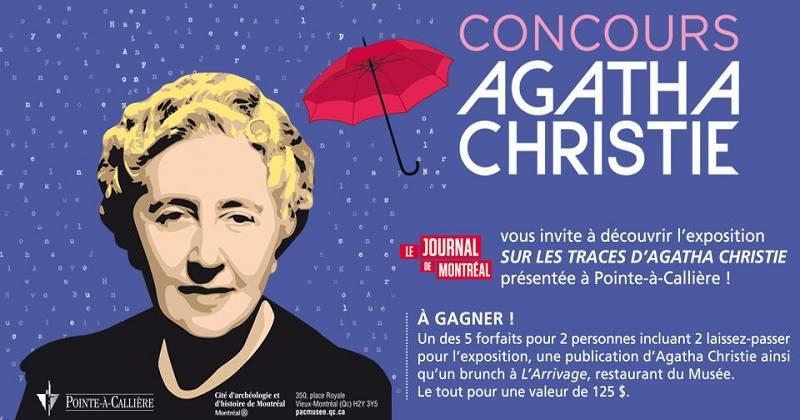 Concours Gagnez un forfait pour deux personnes pour en savoir plus sur Agatha Christie!