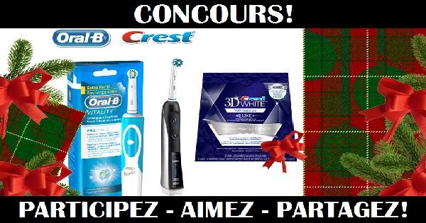 Concours Gagnez un ensemble-cadeau comprenant des produits de soins dentaires Crest et Oral-B!