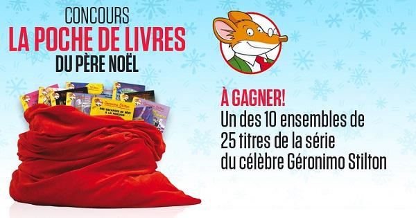 Concours La poche de livres du Père Noël!