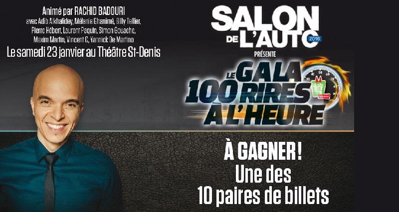 Concours Gala 100 rires à l'heure!