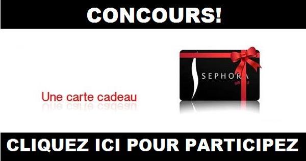Concours Sephora Concours En Ligne Québec