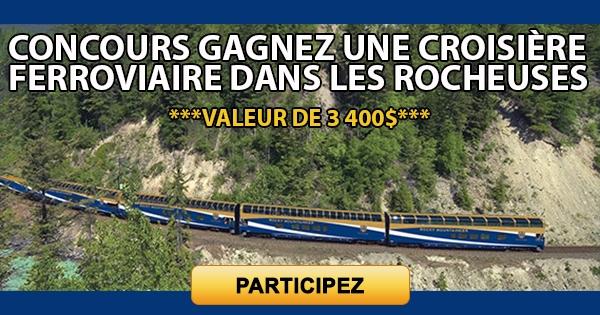 Concours Gagnez une croisière ferroviaire dans les Rocheuses!