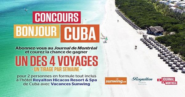 Concours Bonjour Cuba!