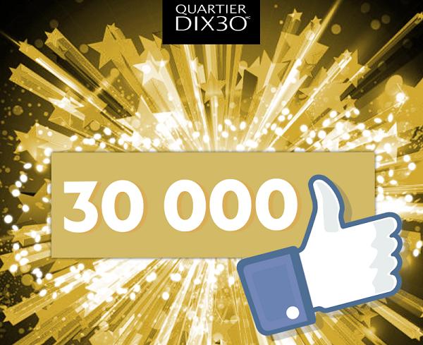 Concours 300$ à dépenser au Quartier DIX30!