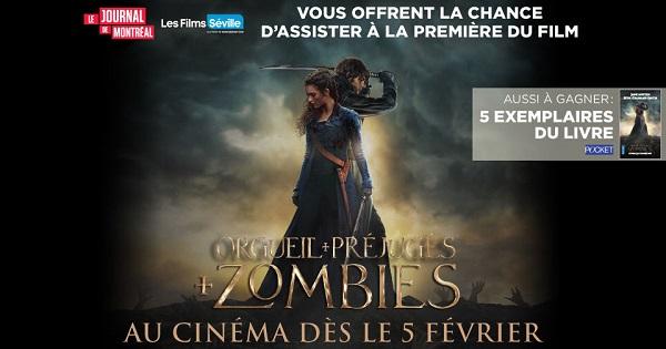 Concours Orgueil, Préjugés et zombies!