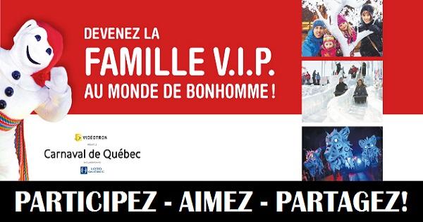 Concours Une famille VIP dans le Monde de Bonhomme!