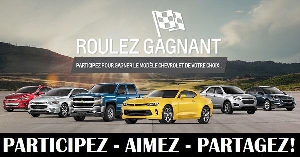 Concours Gagnez le modèle Chevrolet de votre choix! | Concours en ligne Québec