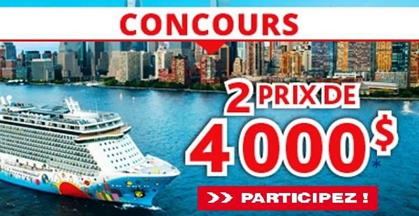 Concours Gagnez un voyage grâce à Brunet et Voyages Gendron!