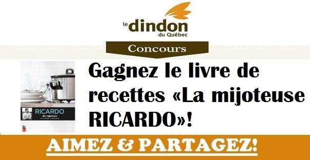 Concours Gagnez le livre de recettes «La mijoteuse RICARDO»!