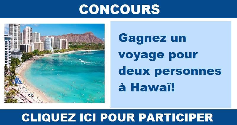 Concours Envole-toi pour Hawaï!