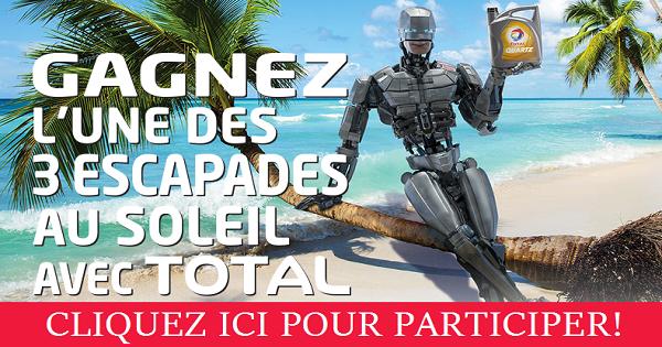 Concours Gagnez l'une des 3 escapades au soleil avec TOTAL!