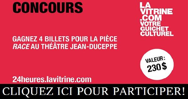 Concours Gagnez 4 billet pour la pièce Race au Théâtre Jean-Duceppe!