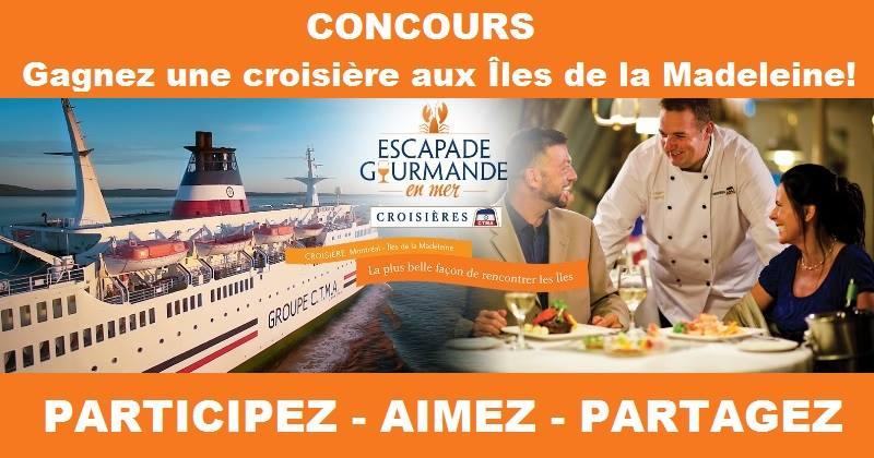 Concours Gagnez une croisière aux Îles de la Madeleine!