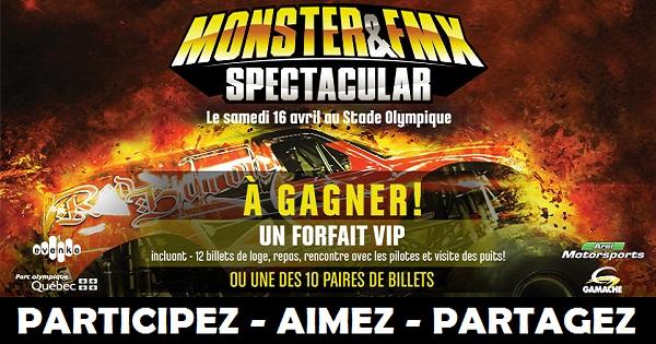 Concours Gagnez un forfait VIP pour assister au Monster & FMX Spectacular!