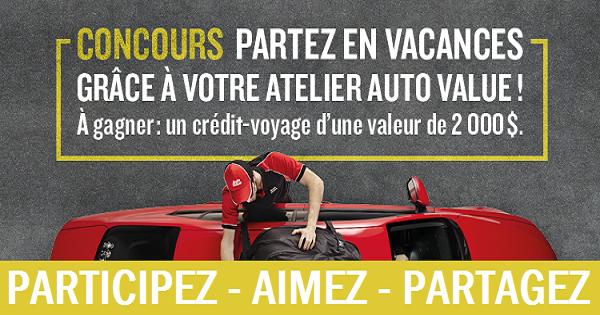 Concours Gagnez 2000$ en crédit-voyage!
