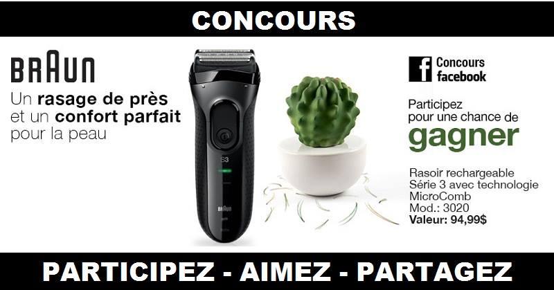 Concours Gagnez un rasoir rechargeable de BRAUN!