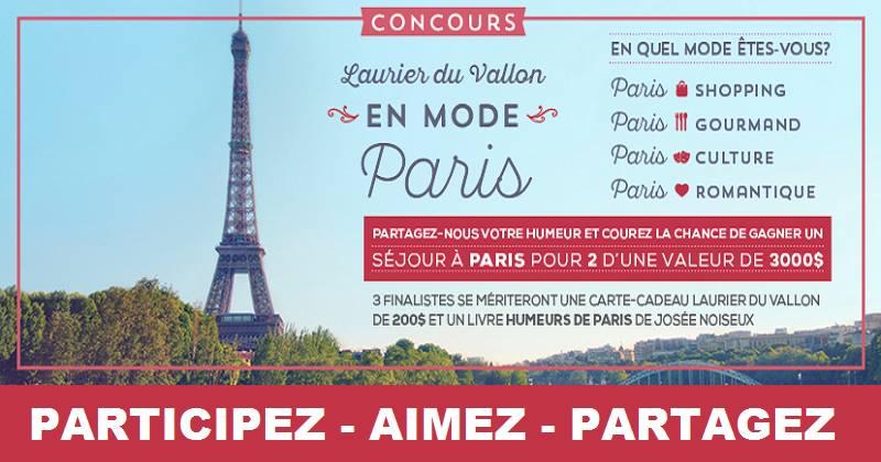 Concours Gagnez un séjour à Paris pour deux!