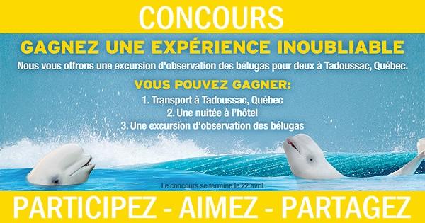 Concours Gagnez un voyage à Tadoussac!