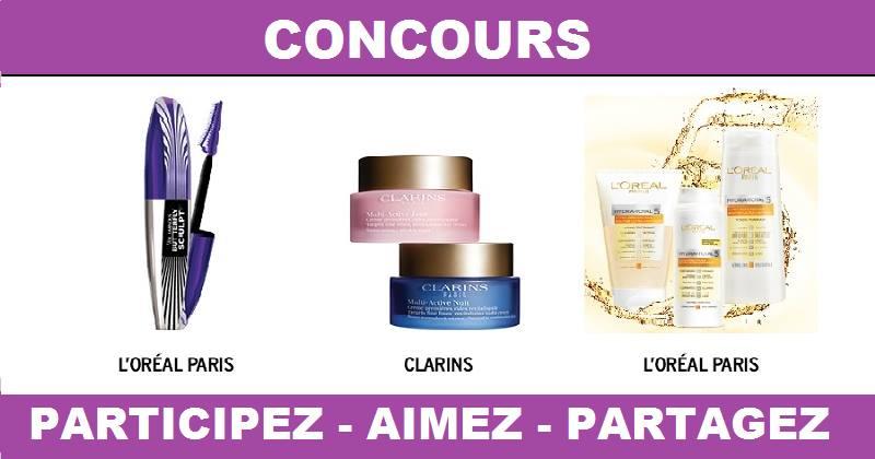 Concours Gagnez un ensemble-cadeau de marque L'Oréal Paris ou Clarins!