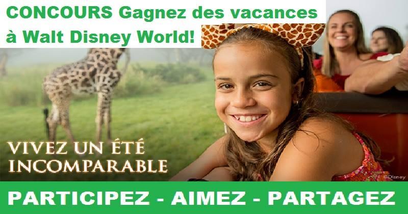 Concours Gagnez des vacances à Walt Disney World!