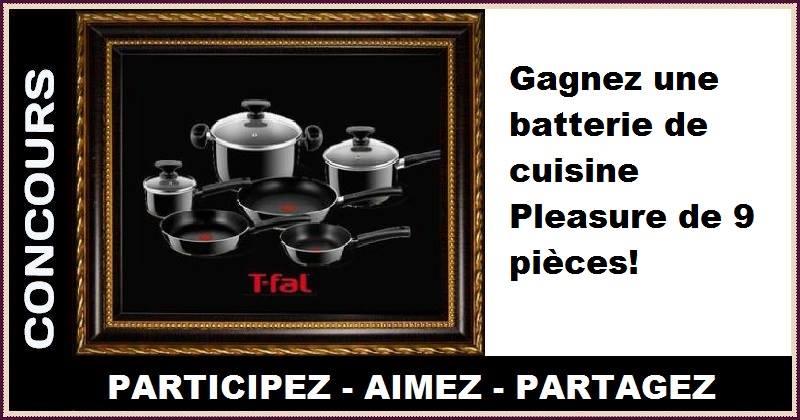 Concours Gagnez une batterie de cuisine Pleasure de 9 pièces!