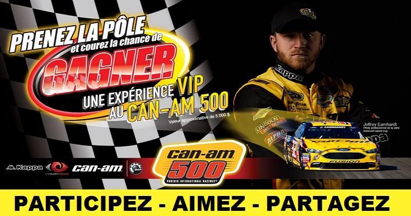 Concours Gagnez une expérience VIP au CAN-AM 500!