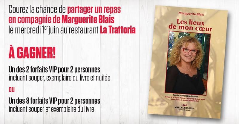 Concours Gagnez un forfait VIP pour 2 personnes incluant un souper au restaurant La Trattoria!