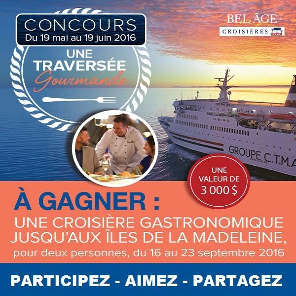 Concours Gagnez une croisière gastronomique jusqu'aux Îles de la Madeleine pour deux personnes!