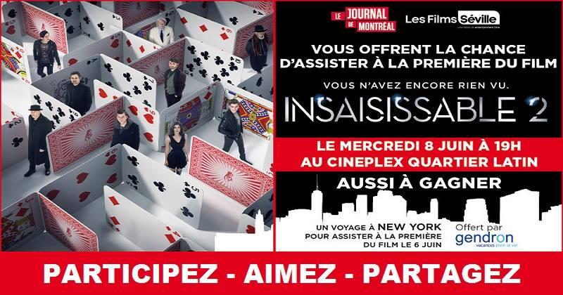 Concours Gagnez un voyage à New York pour deux 2 personnes pour assister à la première du film Insaisissable 2!