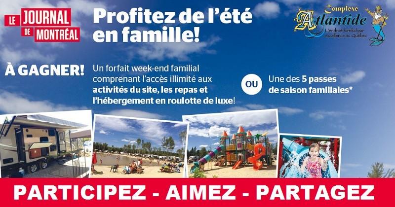 Concours Gagnez un forfait weekend familial au Complexe Atlantide!