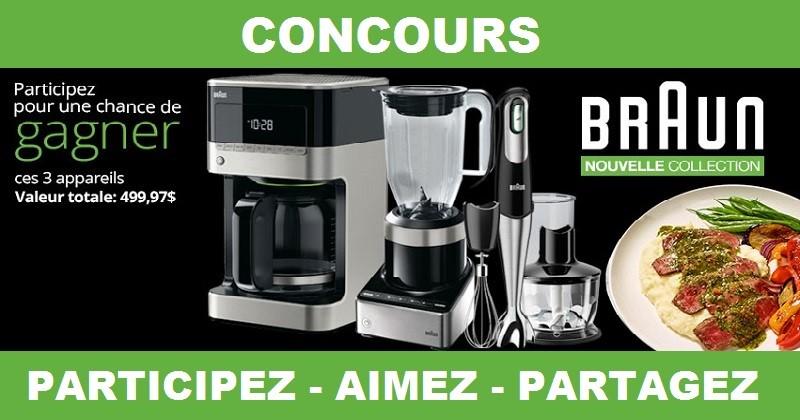 Concours Gagnez 3 appareils de la nouvelle collection Cuisine de Braun!