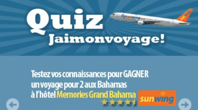 Concours Quiz J'aimonvoyage.com!