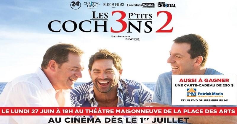 Concours Assistez à la première du film Les 3 p'tits cochons 2!