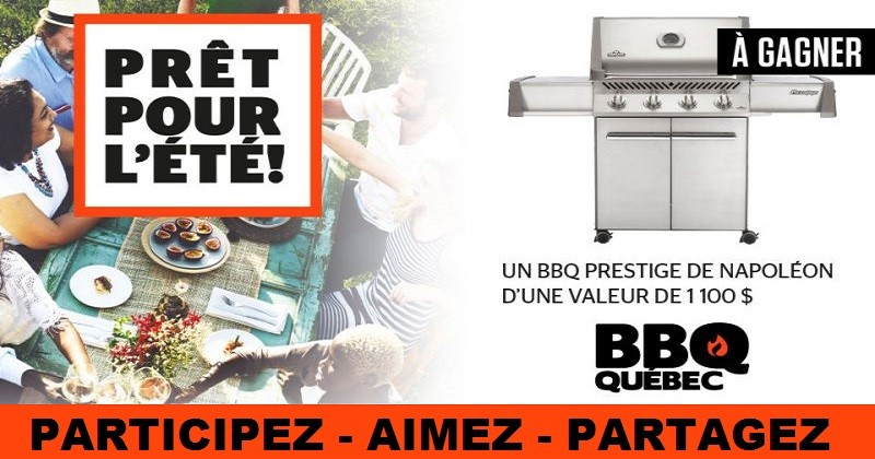 Concours Gagnez un barbecue Prestige 500'' Propane en acier inoxydable de Napoléon!