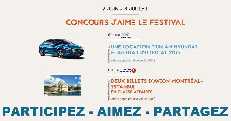Concours j'aime le Festival de Jazz!