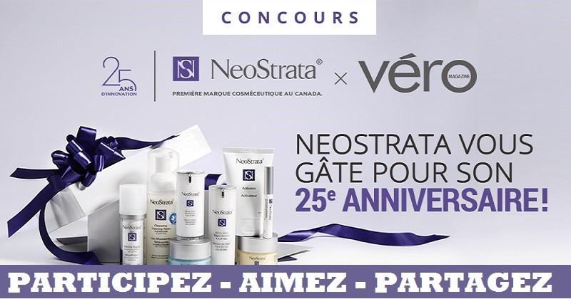 Concours Gagnez une des 25 boîtes-cadeaux de produits NeoStrata!
