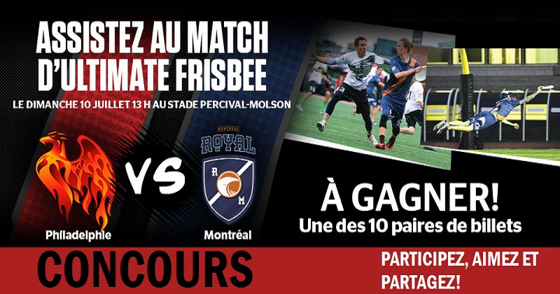 Concours Gagnez une paire de billets pour le match du Royal de Montréal!