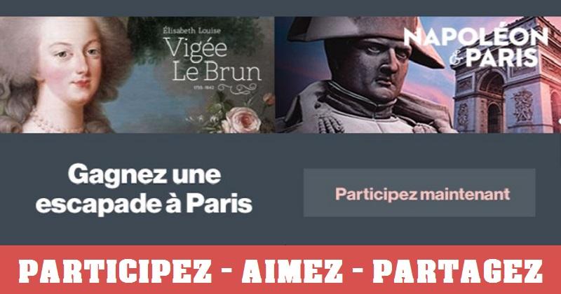 Concours Gagnez une escapade à Paris sur les traces de Vigée Le Brun et Napoléon!
