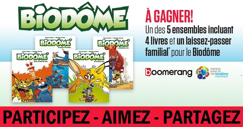 Concours Gagnez 4 livres Biodôme et un laissez-passer familial pour le Biodôme de Montréal!
