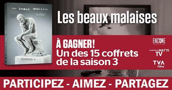 Concours Gagnez un des 15 coffrets de la série Les beaux malaises - Saison 3!