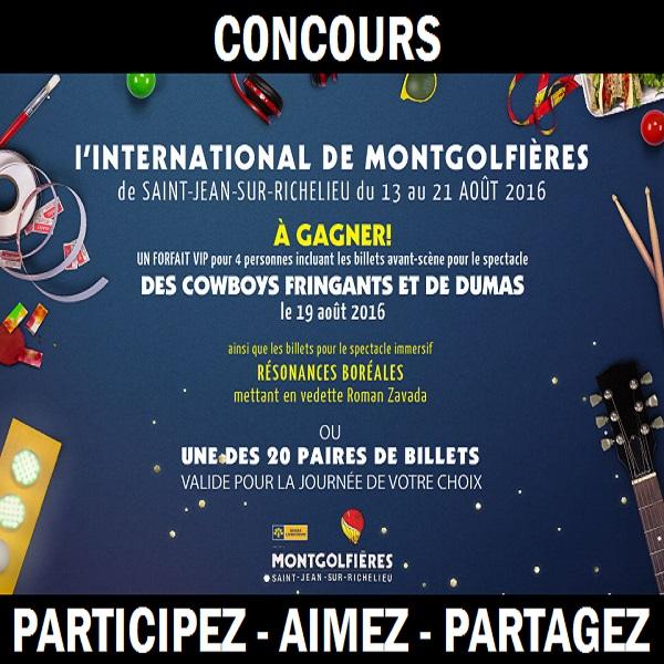Concours Assistez à l'International des montgolfières de Saint-Jean-sur-Richelieu!