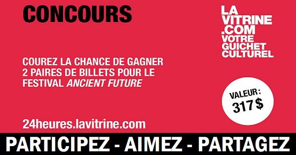 Concours Gagnez 2 paires de billets pour le Festival Ancient Future!
