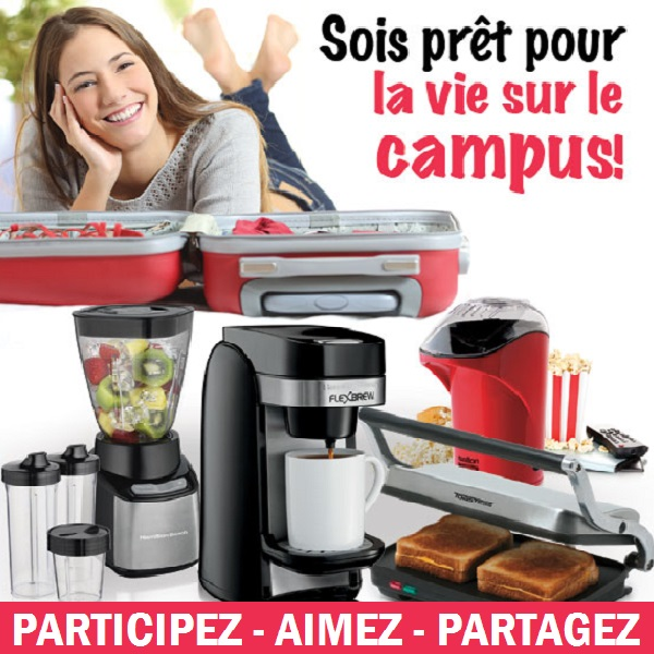 Concours Gagnez une sélection de 4 produits pour vivre sur le campus!