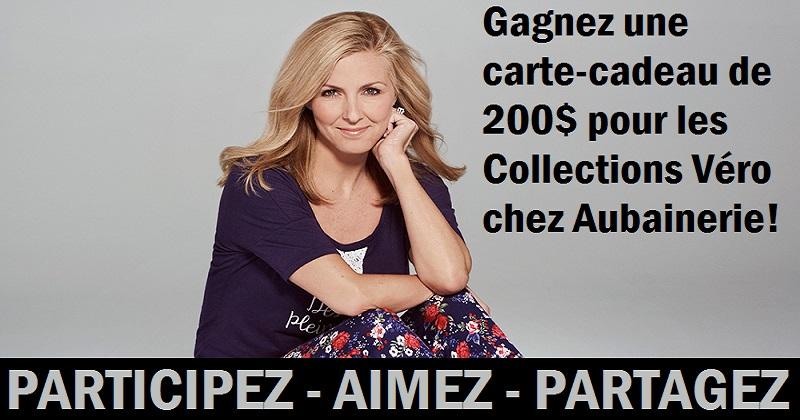 Concours Gagnez 200$ pour les Collections Véro chez Aubainerie!