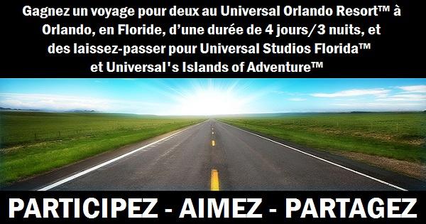 Concours Gagnez un voyage pour deux au Universal Orlando Resort à Orlando!
