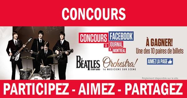 Concours Gagnez une paire de billets pour le spectacle Le Beatles Story Band - Orchestra!